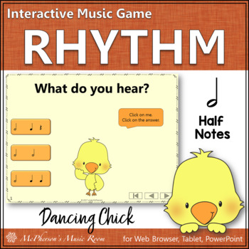 Spring Music Game: Half Notes Interactive Rhythm Game {Dancing Chick}