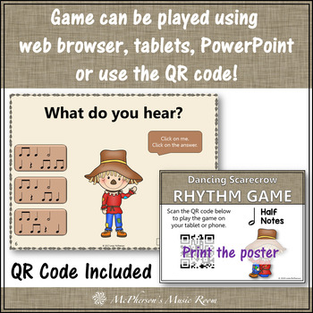 Half Notes Interactive Rhythm Game {Dancing Scarecrow}