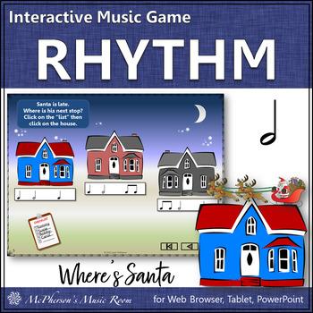 Christmas Music: Half Notes Interactive Rhythm Game {Where's Santa?}
