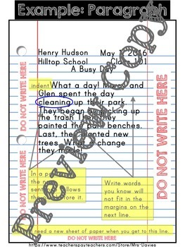 Writing On Loose Leaf Anchor Charts and Editable Printables