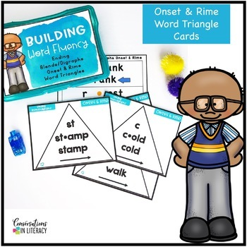 Ending Blends and Digraphs Onset and Rime Building Word Fluency Activities
