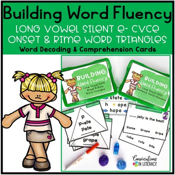 Long Vowel Silent e CVCE Onset and Rime Building Word Fluency Activities