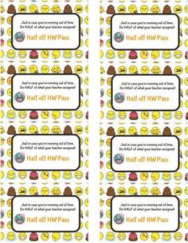 Half Off Homework Pass Emoji