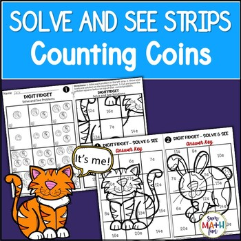Counting Money - Solve & See Strips