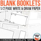 Booklet Template, Half Sheet Writing Paper, Blank Journal