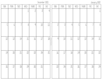 Half Page Calendars