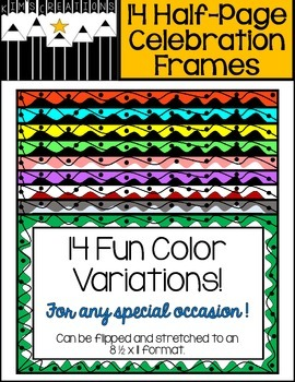 Half-Page Celebration Frames