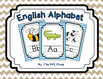 Half Page Chevron-Alphabet Posters