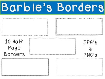 Half Page Doodle Borders/Frames