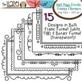 Half Page Doodle Frames & Borders Set: Graphics for Teachers
