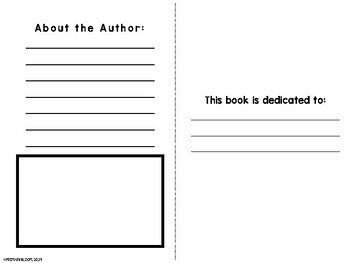 Half Page Foldable book template