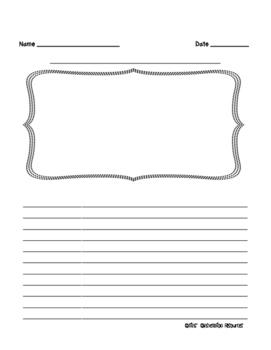 Half-Page Intermediate Frame Writing Paper
