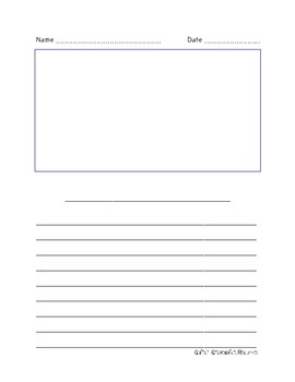 Half-Page Intermediate Plain Frame Writing Paper