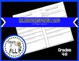 Half Page Reading Response & Log