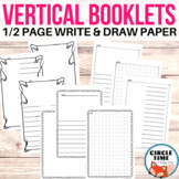 Half Page Writing Paper with Borders and Blank Book Templates