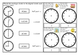 Half Past, O'Clock, Quarter To and Quarter Past Time Assessment