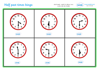 Half Past Time Bingo