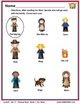 Half-Pint Kids Books Printables for Beginning Readers: Set 11, Book 1 Go West