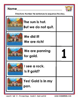 Half-Pint Kids Books Printables for Beginning Readers: Set 11 Book 4 Fred and Ed