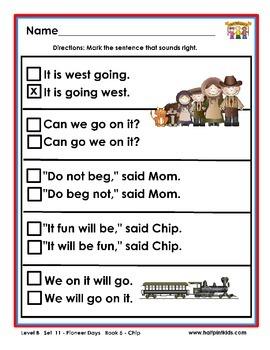 Half-Pint Kids Books Printables for Beginning Readers: Set 11, Book 5 Chip