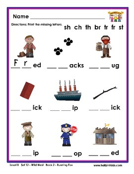 Half-Pint Kids Books Printables for Beginning Readers Set 12 Book 2 Running Fox