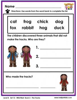 Half-Pint Kids Books Printables for Beginning Readers Set 12 Book 3 The Tracks