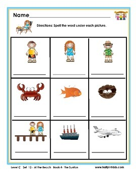 Half-Pint Kids Books Printables for Beginning Readers Set 13 Book 4 The Suntan
