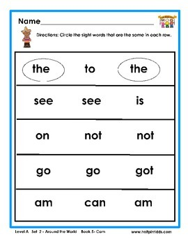 Half-Pint Kids Books Printables for Beginning Readers: Set 2, Book 5 CAM