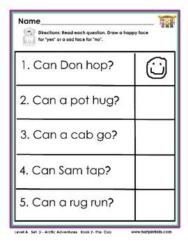 Half-Pint Kids Books Printables for Beginning Readers: Set 3, Book 2 THE CUB