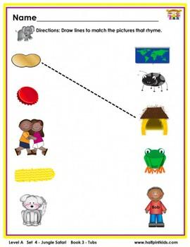 Half-Pint Kids Books Printables for Beginning Readers: Set 4, Book 3 Tubs