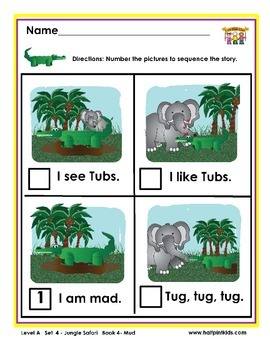 Half-Pint Kids Books Printables for Beginning Readers: Set 4, Book 4 Mud
