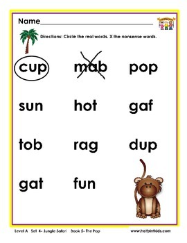 Half-Pint Kids Books Printables for Beginning Readers: Set 4, Book 5 THE POP