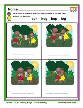 Half-Pint Kids Books Printables for Beginning Readers: Set 5, Book 1 THE HUG