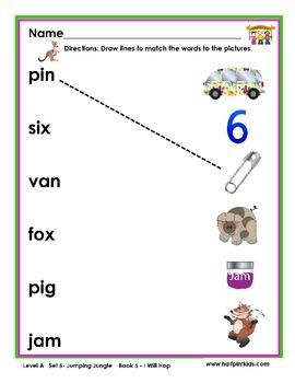Half-Pint Kids Books Printables for Beginning Readers: Set 5, Book 5 I WILL HOP