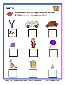 Half-Pint Kids Books Printables for Beginning Readers: Set 6, Book 2 FIN AND NIP