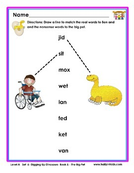 Half-Pint Kids Books Printables for Beginning Readers: Set 6, Book 5 THE BIG PET