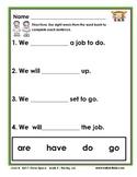 Half-Pint Kids Books Printables for Beginning Readers: Set 7 Book 2 The Big Job