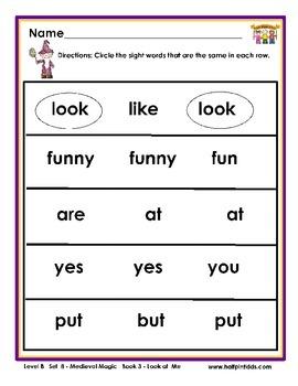 Half-Pint Kids Books Printables for Beginning Readers: Set 8 Book 3 Look at Me