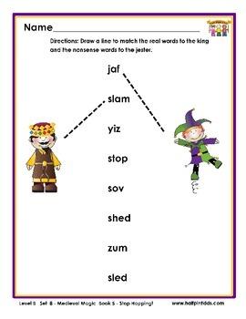 Half-Pint Kids Books Printables for Beginning Readers: Set 8 Book 5 Stop Hopping