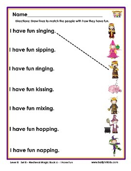 Half-Pint Kids Books Printables for Beginning Readers: Set 8 Book 6 I Have Fun