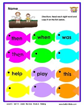 Half-Pint Kids Printables for Beginning Readers Set 14 Book 2 Fishing