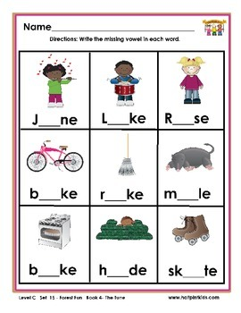 Half-Pint Kids Printables for Beginning Readers Set 15 Book 4 The Tune