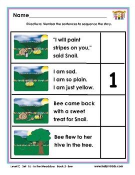 Half-Pint Kids Printables for Beginning Readers Set 16 Book 3 Bee