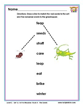 Half-Pint Kids Printables for Beginning Readers Set 16 Book 4 The Seeds