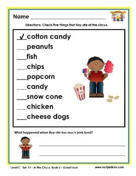 Half-Pint Kids Printables for Beginning Readers Set 17 Book 6 Good Food