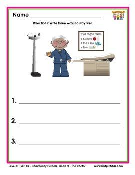 Half-Pint Kids Printables for Beginning Readers Set 18 Book 2 The Doctor