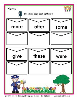 Half-Pint Kids Printables for Beginning Readers Set 18 Book 6 The Mailman