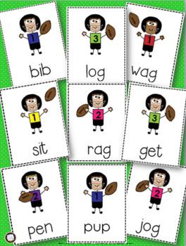 CVC Short Vowels Football Games