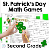 St. Patrick's Day Math Games for Second Grade