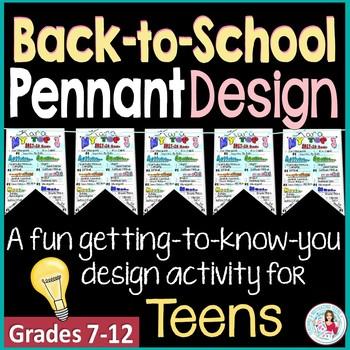 Back to School Icebreaker   Pennant Design Activity